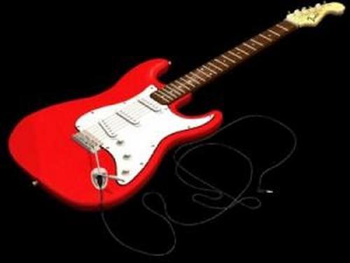 Red Guitar 3D Model