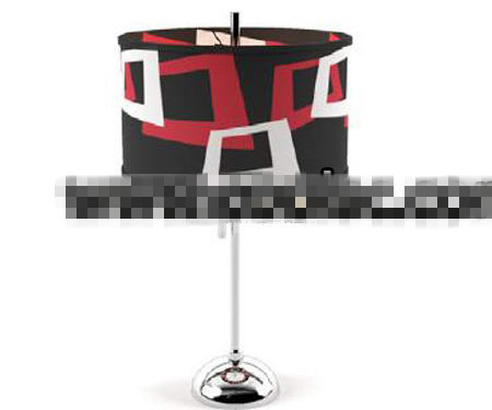 Red white and black exaggerated light cap lamp 3D Model