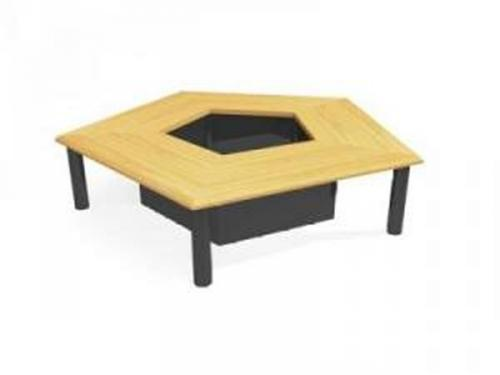 Regular Pentagon conference table 3D Model