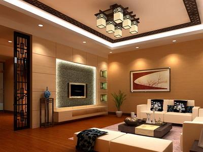 Residential Decor: Chinese Style Living Room Model 3D Model