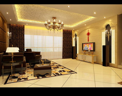 Residential Design��European Living Room Design 3Ds Max Model