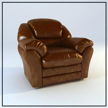 Restore ancient ways brown coriaceous single person sofa 3D models