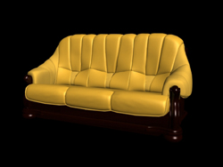 Restore ancient ways classic yellow people sofa 3D models