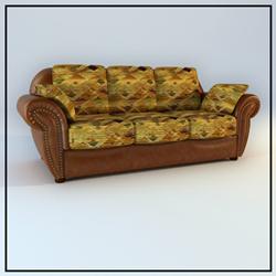Restore ancient ways decorate cortical people sofa 3D models