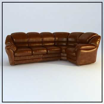 Restoring ancient ways cortical people sofa brown 3D models