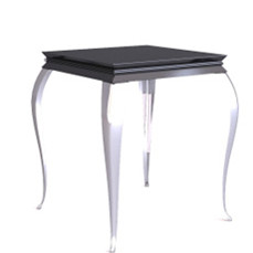 Retro black European – style coffee table 3D Model