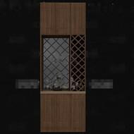 Retro hollow designed wine cabinet 3D Model
