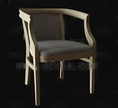 Retro simple wooden chair 3D Model