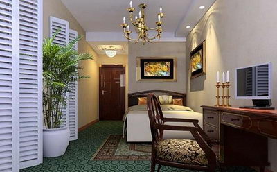 Rich and elegant bedroom model 3D Model