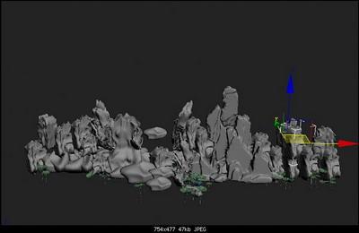 rockery 3D model