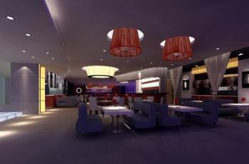 Romantic dim West Restaurant 3D model