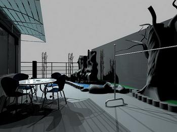 Roof Garden 3D Model