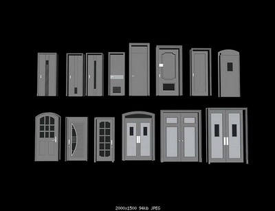 Room Doors 14Models 3D Model