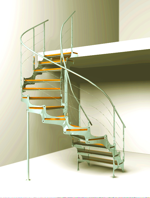 Rotary stairs 3D Model