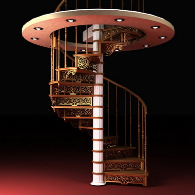 Rotating stairs 3D Model