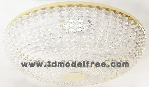 Round crystal curtain ceiling lamp 3D Model