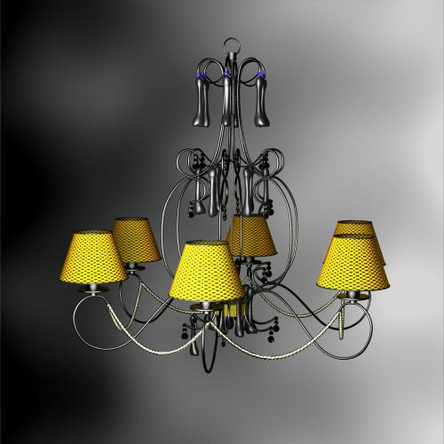 Rural style weave droplight 3D models