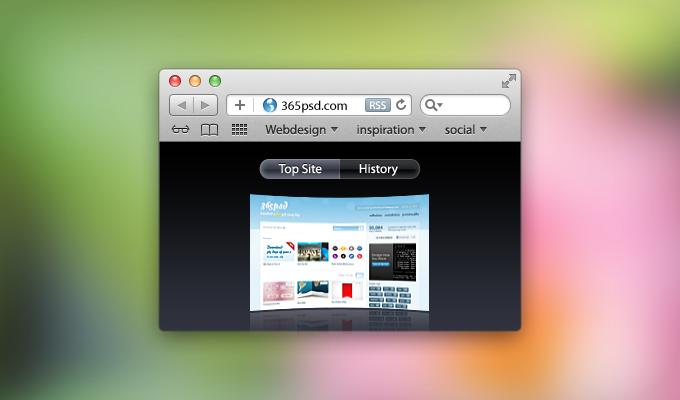 Safari Window PSD