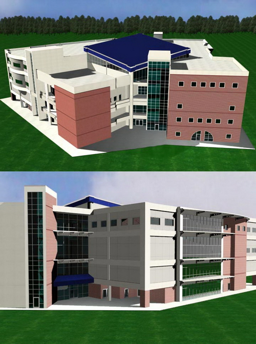 School Teaching Building ! 3D Model