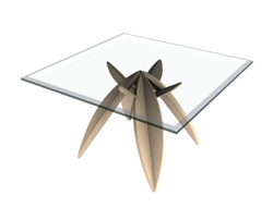 Seeds upon its feet glass tea table 3D models