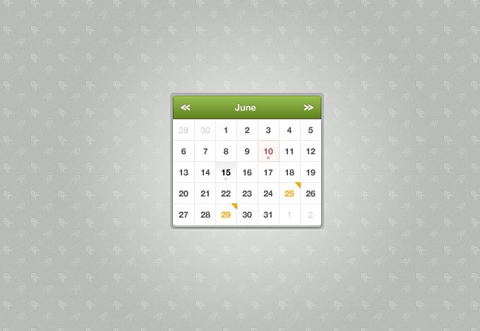 Sexy Calendar PSD