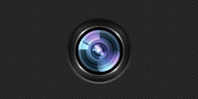 Sexy Camera Lens PSD