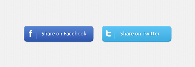Share Social Buttons PSD