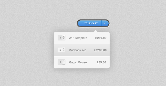Shopping Cart Dropdown PSD