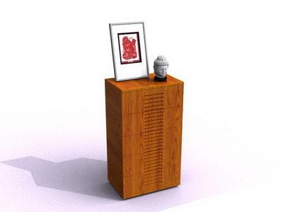 Showcase 3D model (including materials)