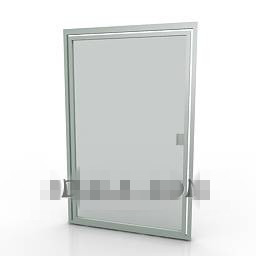 silver-gray shower door 3D Model