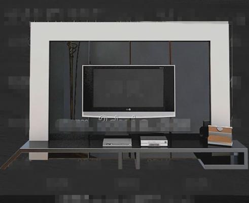 Silver unique television cabinet 3D Model