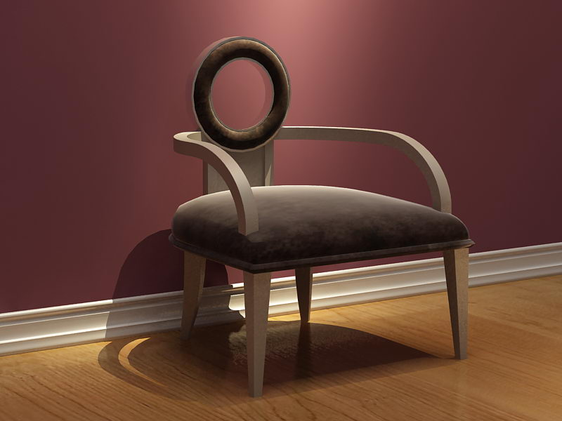 Simple 3D model of the European leisure chair (including materials)