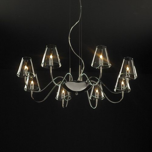 Simple and classic crystal chandelier 3D Model