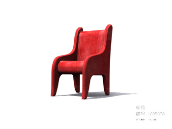 Simple and comfortable wooden single chair 3D Model