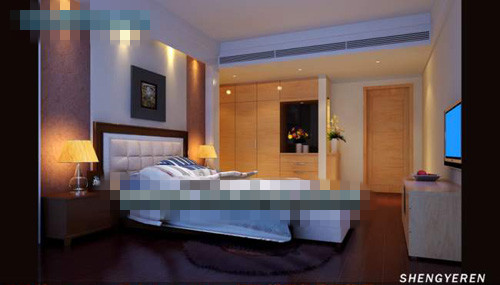 Simple and compact bedroom 3D Model