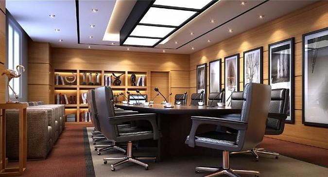Simple and elegant meeting room 3D Model