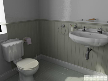 Simple bathroom model 3D Model