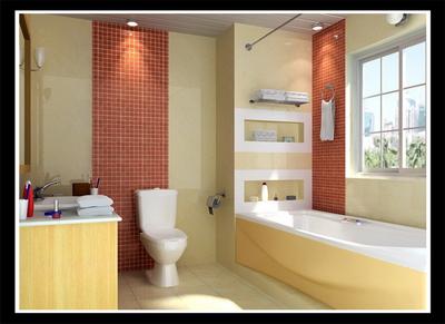 Simple bathroom models (including maps, light area network) 3D Model
