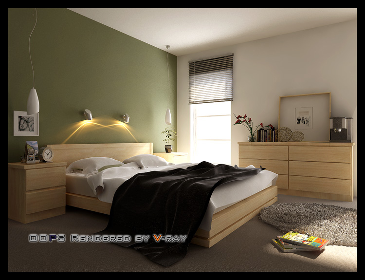 Simple bedroom model 3D Model