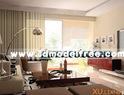 Simple creative living room 3D Model