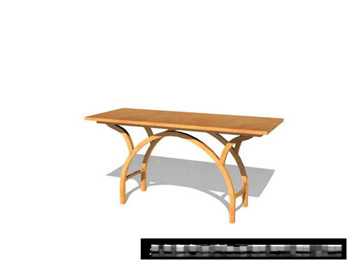 Simple individual wood tables 3D Model