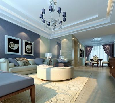 Simple living room model 3D Model