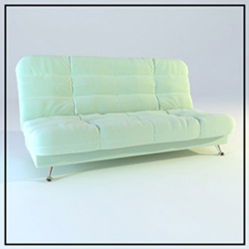 Simple model of light comfortable sofa 3D Model