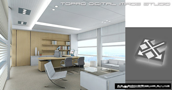 Simple office overall model 3D Model