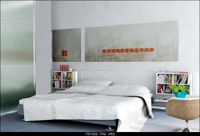 Simple Style Bedroom Design: Pure White 3D Model