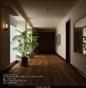 Simple Style Home Design: Hallway 3D Model