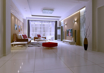 Simple style of modern living room 3D Model