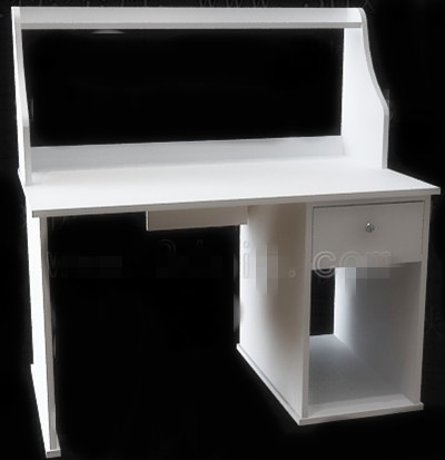 Simple style white computer desk 3D Model