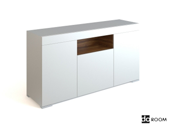 Simple style White low-lying cabinet 3D Model