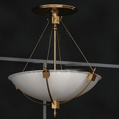 Simple white pallet chandelier 3D Model